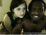Cute white girl loves black dick