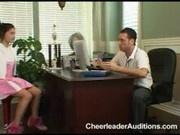 Adriana at Cheerleader Auditions