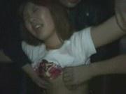 Japanese lady groped in nightclub
