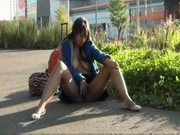 Ebony teens masturbating nude in public