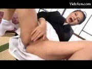 Busty Mature Lady In Black Kimono Having Orgasm While Masturbating Rubbing Fingering Herself