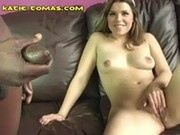 Black Man Cums On White Babe
