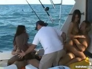 Foursome On The Boat With Natasha And Aisha - Captain Stabbin