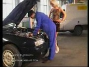 Cassie is banged in the garage