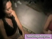 College teens suck guy at party