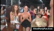 Georgeous celebrating bacherolettes sucking a stripper at a