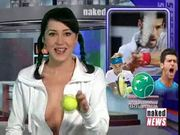 Rachel simmons  naked news beauties anchor presents - sport