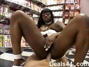 Jada Fire fucking stranger at video store