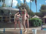 Bikini pool dance