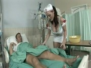 Big breasted nurse Sophie Dee fucking her patient
