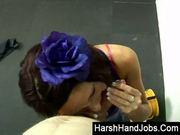 Harsh handjob from nikita law