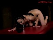 Busty Girl Fingering Herself Buttplug Spanked By Master In The Dungeon