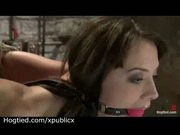 Long legged brunette chanel preston bound and flogged