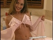 Tawnee Stone Posing in a Pink Nightie