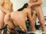 Yoha Gets Fucked By Two Horny Guys - Ass Traffic