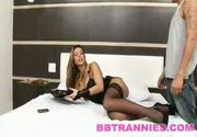 The stunning tranny raissa gets it bareback