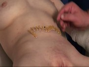 Medical needle torment and bizarre pussy humiliation of slav