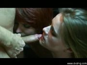 Hot Girls Evane and Pam Fight For Cock