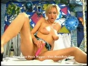 Lilly - Blonde with pink dildo