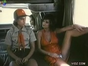 Horny aLadies in van tease a hitch-hiking boyscout