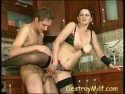 Boy Fucks His Best Friends Busty Mom In Her Kitchen