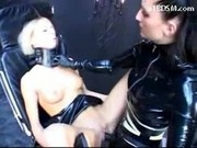 Slave Girl Tied To Chair Getting Her Pussy Fisted Fucked With Gesa Balls And Strapon By Mistress In 