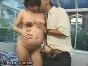 Pregnant cock suck