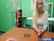 Real patient blonde babe Kristyna fucked by doctor after getting oral