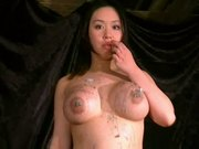 Gameshow punishments for breast whipped and spanked busty as