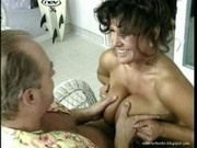 Holly Body pulling out her huge tits and fucking