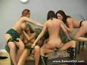 Hardcore teen lesbians orgy