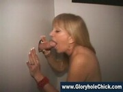 Cock addicted nympho at a gloryhole