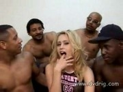 Black Brothers Get Together To Share White Whore Brynn Brooks' Leaky Fuck Holes
