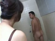 Mature an aunt of asian with her corespondent take a bath in