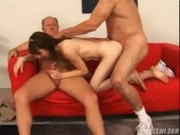 This young chick fucks these older guys for Money - Teens For Cash