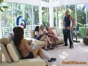 Randy orgy in the living room