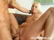 Carla Cox stuffs her Pussy with two Cocks - All Internal