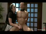 The maid is kinky with my cock