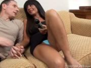 Beautiful busty older brunette loves to get fucked in her tight ass