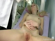Kristyna pussy gaping at kinky gyno clinic by old doctor