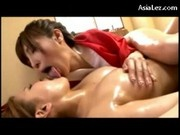 Girl Having Orgasm While Getting Her Body Massaged With Oil Tits Rubbed On The Bed