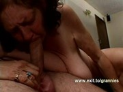 60 Years Grandma rewarded with Cum shower