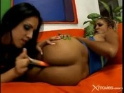 A Hot Lesbian Action With Two Horny Chicks