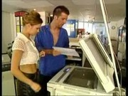 Slut Fucked On A Copy Machine!