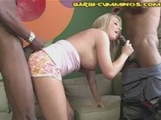Blonde Pees Then Sucks Black Cock