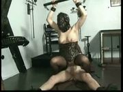 Horny slave gives master a good fuck and sucks his cock unti