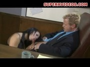 Nasty secretary oral sex Eva Angelina