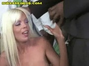 Mature Blonde Sucks Blacks