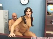 Mackenzee Pierce riding the school principal