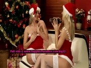 Salma and Karie from sapphic erotica, stunning lesbian babes teasing